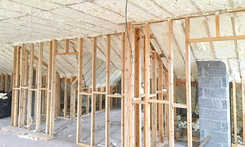 Timber Frame Sprayfoam Insulation